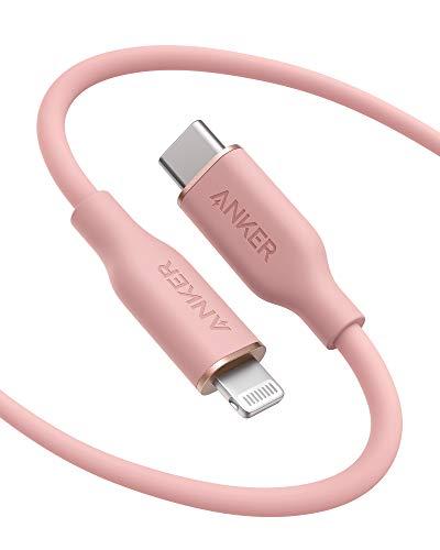 PowerLine III Flow de Anker, cable de USB C a conector Lightning...