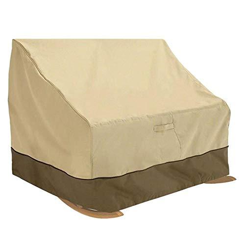 HFTYCC Copertura per mobili da giardino per esterni Doppia copertura per sedia a dondolo, Copertura per sedia impermeabile per terrazza 420d Tessuto Oxford 100% impermeabile, antivento, Protezione UV