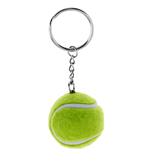 Sharplace Portachiavi Anello Palla da Tennis Portachiavi Ciondolo Hanging Ornament - Verde