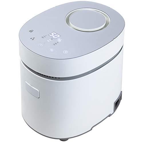 [山善] スチームファン式 加熱式 加湿器 上部給水式 (湿度センサー搭載) (最大加湿 600ml) (タンク容量 3.0L) (木造約10畳/プレハブ洋室約17畳) (タイマー 最大4時間) (チャイルドロック) (着脱式タンク) (メモリー機能) ホワイト KSF-L301(W) [メーカー保証1年]