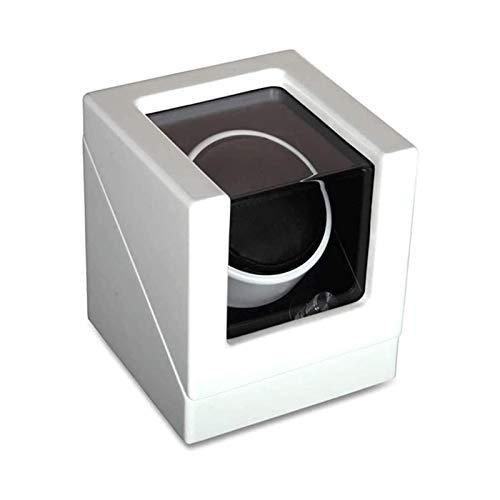 LSLS Caja joyero Almohada de Reloj Ajustable para Hombres y Relojes de Relojes, en cáscara de Madera y Pintura de Piano Negro, con Ajuste del Modo de rotación Organizador de Joyas (Color : White)
