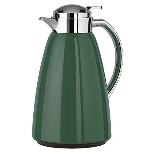 Emsa N4130600 Campo Isolierkanne | 1 Liter Fasssungsvermögen | Quick Tip Verschluss | 12h heiß | 24h kalt | 100% dicht | auslaufsicher | Dunkel Grün