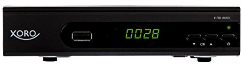 Xoro HRS 8659 digitaler Satelliten-Receiver mit LAN Anschluss (HDTV, DVB-S2, HDMI, SCART, USB 2.0 Media Player) schwarz