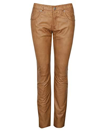 JCC Damen Lederhose 5-Pocket Mandy Long Cognac 46