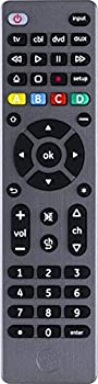 GE Universal Remote Control for Samsung Vizio LG Sony TCL Roku Apple TV TCL Panasonic Smart TVs Streaming Players Blu-ray DVD 4-Device Graphite 33711