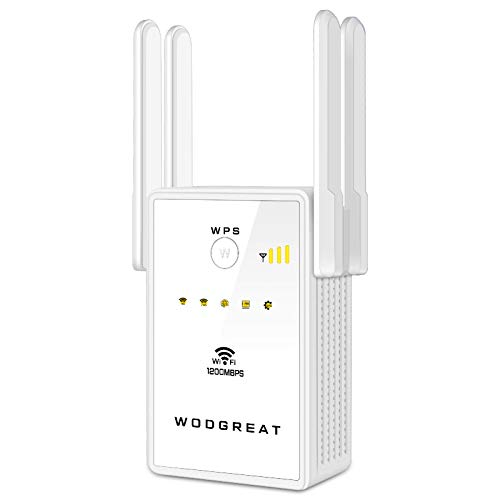 Wodgreat Répéteur WiFi 1200Mbps, Amplificateur WiFi Dual Band 5GHz/2.4GHz, Repeteur WiFi...