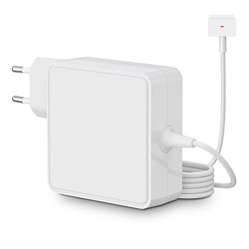 SIMPFUN Cargador para Mac Book Pro, 85 W, 'T', fuente de alimentación magnética para Mac Book Pro 13', 15' y 17', funciona con 45 W/60 W/85 W (20012-2015)