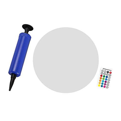 LOVIVER Lámpara de Bola con energía Solar a Prueba de Agua para Piscina, lámpara de Piscina al Aire Libre de 13 Pulgadas Que Cambia de Color LED RGB