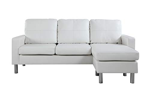 Divano Roma Furniture Modern Sectional, White