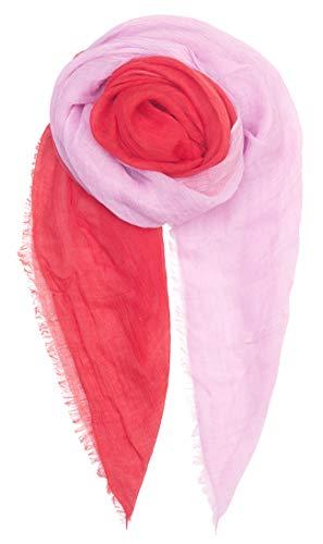 Becksöndergaard Damen Schal Rot Sakai Scarf Red Love Halstuch mit Farbverlauf Modal 180x130 cm - 1904630001-690