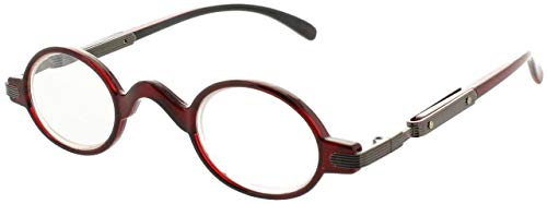 FIORE Vintage Style Reading Glasses Professor Readers for Men and Women Stylish Round Eyeglasses