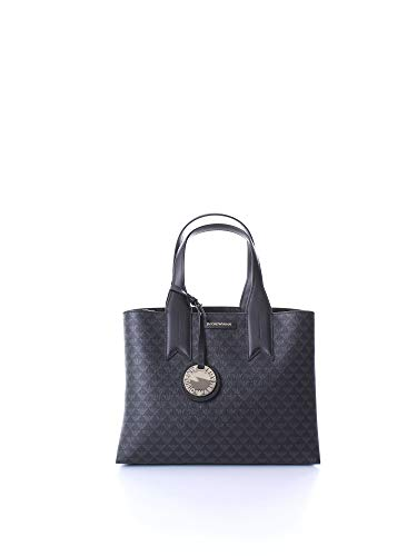 Emporio Armani All Over Logo Damen Handtasche Schwarz