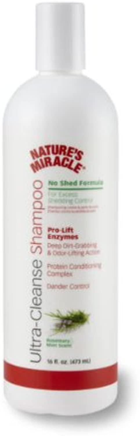 Nature's Miracle UltraCleanse Shampoo No Shed Formula, 16Ounce (P5902)