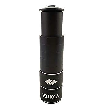 ZUKKA Bike Fork Stem Extender,Bicycle Handlebar Stem Riser-Adjustable Bike Stem Riser,Aluminium Alloy Head Up adapter1-1/8 inches Bike Neck Extender-Black