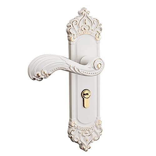 Aiglen Manijas de puerta de seguridad vintage con 3 llaves para el hogar, dormitorio, oficina, puerta delantera
