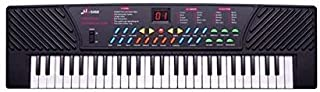 Funspot 54 Keys Electronic Musical Piano Keyboard 5468 with Mic and Charger (Black) 5468