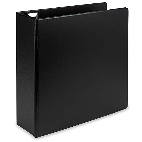 Samsill Earth's Choice Biobased Durable 3 Ring Binder, 3 Inch Round Ring, Up to 25% Plant Based Plastic, Eco-Friendly, USDA Certified Biobased, Black