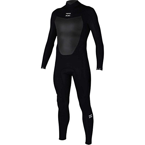 Billabong Men's Foil 3/2 Back Zip Sealed Seam Full Wetsuit, Black, Medium
