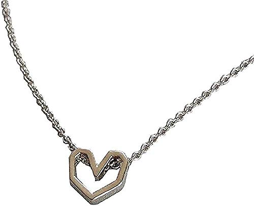 niuziyanfa Co.,ltd Necklace Personality Versatile Irregular Artistic Feeling Love Necklace Neck Clavicle Chain Necklace Gift Girls Boys Necklace