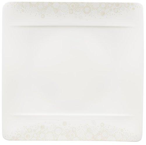 Villeroy & Boch 10-4511-2610 Modern Grace Grey Speiseteller, 27 x 27 cm, Premium Bone Porzellan