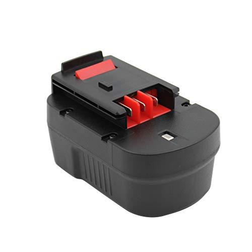 KINSUN Batería de herramienta eléctrica de repuesto 14.4V Ni-MH 3000mAh para destornillador de taladro inalámbrico Black & Decker A14 A144 A144EX A14F BD1444L BPT1048 HPB14 FIRESTORM FS140BX FSB14