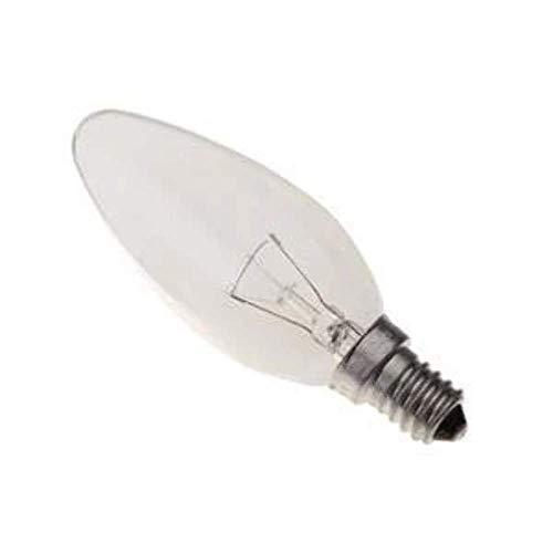 10 x 40 Watt Clear Glass Candle Bulbs E14 Small Edison Screw Fitting 400 Lumens