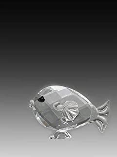 ASFOUR CRYSTAL 956-1 1.25 L x 0.82 H in. Crystal Fish Sea Figurines