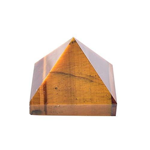 Jengijo Tigres naturales Ojo Pyramid Gemstone Reiki Chakra Punto de cristal Punto de curación Piedra Hecho a mano Ornamentos pulidos ore Torre mineral ( Color : Natural Tigers Eye , Size : 1pc )