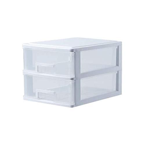 YiGanQiang Caja de cajones, Caja de Oficina con 2 chorros, plástico (PP), Libre, Caja de cajones/cajón, cajonera, Cofre Organizador, Transparente. (Color : B, Size : 25 x 34 x 32 cm)