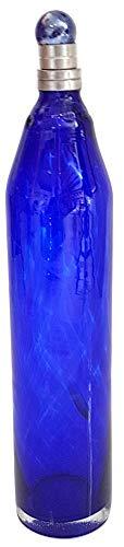 Oberstdorfer Glashütte glazen fles antieke stijl mondgeblazen, karaf antieke stijl in kobaltblauw met tin-sluiting geschikt voor levensmiddelen, inhoud 0,5 liter, hoogte ca. 30 cm. Diameter: ca. 6 cm.