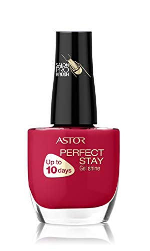 Astor Perfect Stay Gel Shine Nagellack, langanhaltend, Farbe 643 Candy Apple (rot), 1er Pack (1 x 12 ml)