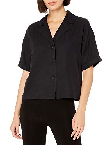 The Drop Women's Marty Boxy Cuffed Short Sleeve Button Front Shirt