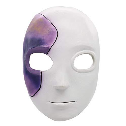 LJZXXK Maschera in Lattice di Halloween Sally e Parrucca Blu Corto da Donna Ragazze Cosplay Costumi a Tema Halloween Costumi da Festa Maschere