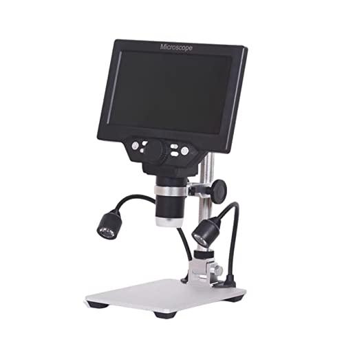 T TOOYFUL Schermo 7'Microscopio Digitale con Staffa Foto/Video Luci di Riempimento a LED con Batteria 1200x1080P Amplificazione Video Magnifier per Saldatura