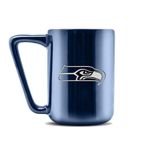 Duck House LCE NFL Cleveland Browns Keramik Lasergravur Kaffeetasse – Metallic-Finish, 454 ml, LCE, Seattle Seahawks, 16 oz
