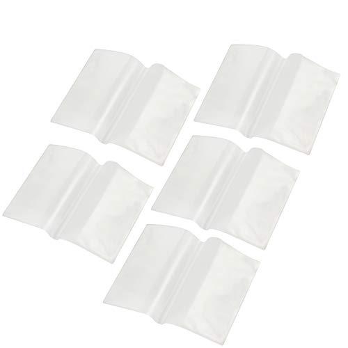 AMATHINGS 5 Stück Reisepass Impfpass Hülle (bis 13,5 cm Höhe) Ausweishülle Schutzhülle Transparent abwischbare dokumentenechte Ausweis reißfeste Hülle
