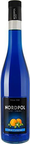 Blue Curaçao tropischer Likör von Nordpol, 0,7 L, 20% Vol.