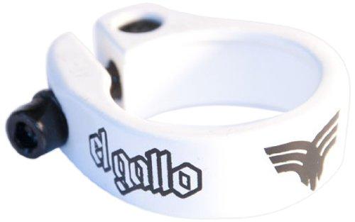 El Gallo Components 14SC-82-W - Cierre de sillín para Bicicleta, Color Blanco