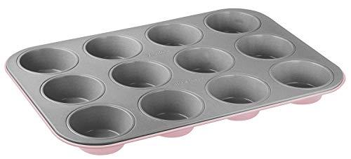 Zenker Muffinform 12er Backblech (Ø 7 cm), für saftige Muffins & Cupcakes, Muffinblech, eckig & antihaft-beschichtet, Maße: 38,5 x 26,5 x 3 cm