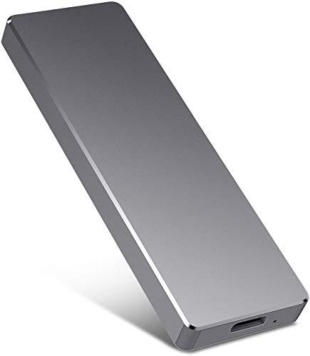 Disco duro externo portátil de 1 TB y 2 TB, de aluminio delgado USB3.0 HDD de almacenamiento para PC, Mac, escritorio, MacBook, Chromebook, Xbox One (2 TB negro) miniatura