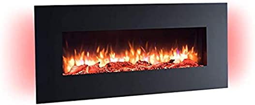 Camino elettrico da parete con riscaldamento, illuminazione a led, effetto fiamma 3d e telecomando richen B08D9KZWSK