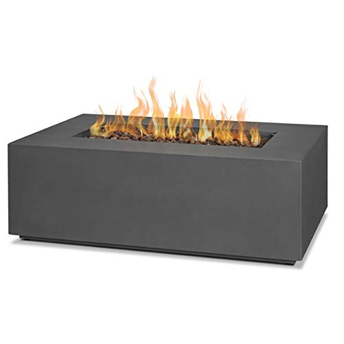 Real Flame Aegean Small Propane Fire Table with Conversion Kit in Slate