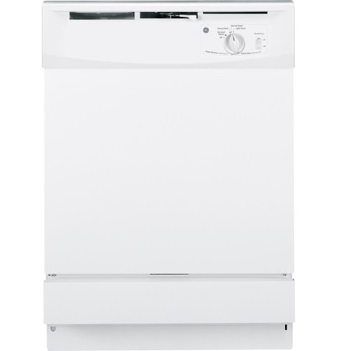 GE GSD2100VWW Built-In 24-Inch Dishwasher, White, 5 Cycles / 2 Options