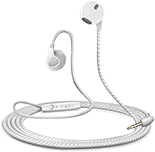 Shot Case With Earphones for Sony Xperia L1Universal Adjustable Hands-Free In-Ear Headphones–White