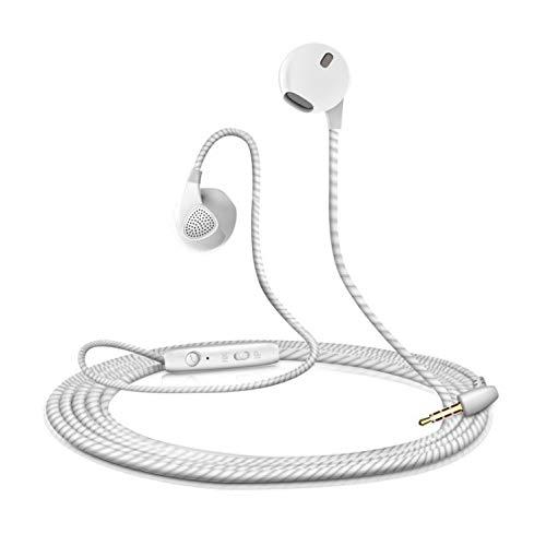 Shot Case hoofdtelefoon voor Samsung Galaxy S8, met microfoon, handsfree, in-ear hoofdtelefoon (kleur wit)