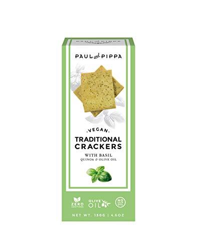 Crackers veganas artesanas de albahaca 130g