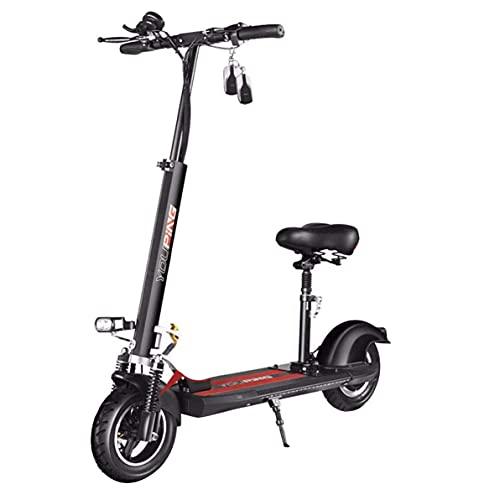 CHNG E-Scooter portátil Plegable - Scooter eléctrico para Adultos, Motor de 500 W, con luz LED y Pantalla, Velocidad máxima de 55 km/h, patinetes eléctricos Ligeros para Adultos y Adolescentes