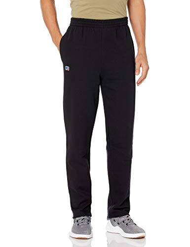 Russell Athletic Men's Cotton Rich 2.0 Premium Fleece Sweatpants, Black, Medium