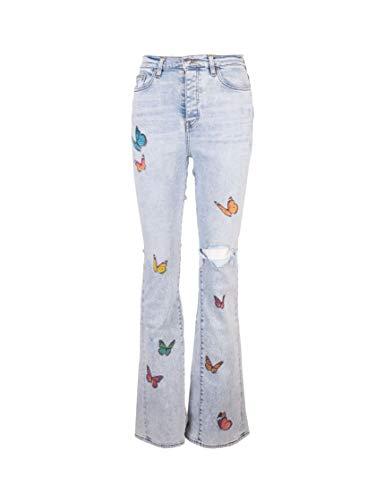 Amiri Luxury Fashion Damen Y0W01404SD Hellblau Elastan Jeans | Frühling Sommer 20