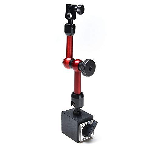 AGPtek 3-Joint Red Adjustable Magnetic Base Holder for Digital Dial Indicator